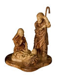 Wooden sculpture of the baby Jesus, Virgin Mary and Joseph Royalty Free Stock Photos