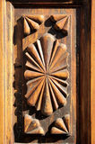 Wooden Sculpture Door Royalty Free Stock Image