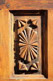 Wooden Sculpture Door Royalty Free Stock Photo