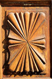 Wooden Sculpture Door Royalty Free Stock Images