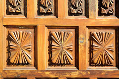 Wooden Sculpture Door Stock Images