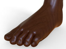 Wooden sculpture of a foot Royalty Free Stock Photos