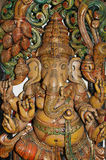 Wooden sculpture of Ganesha Stock Image