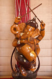Wooden sculpture of Ganesha Stock Photos