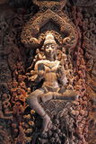 Wooden sculpture of the goddess Stock Photography