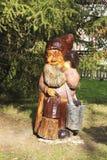 Wooden sculpture in Goryachiy Klyuch Stock Photos