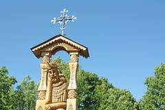 Wooden sculpture of Jesus Christ. A wooden sculpture of Jesus Christ, the land of Lithuania Stock Images