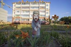 Wooden sculpture like Lukashenko in Belarus Stock Photography