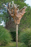 Wooden sculpture. Made out of the trunk of a tree Royalty Free Stock Photo