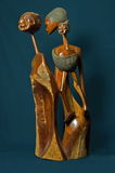 Wooden Sculpture from Mozambique Stock Photography