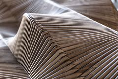 Wooden sculpture. With patterns backgroung light abstract Stock Photo