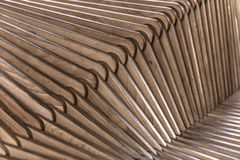Wooden sculpture. With patterns backgroung light abstract Royalty Free Stock Image