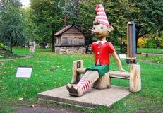 Wooden sculpture Pinoccio Royalty Free Stock Photos