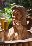Wooden sculpture. Sanatorium Egle. Druskininkai Royalty Free Stock Image