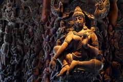 Wooden Sculpture in Sanctuary of Truth Stock Image