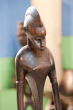 Wooden sculptures from Africa Stock Photo