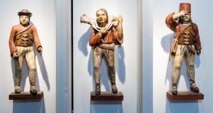 Wooden sculptures on Slanica Island, Slovakia royalty free stock image