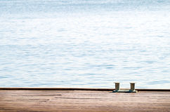Wooden sea landing stage Stock Photography
