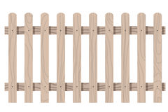 Wooden seamless fence rounded shape isolated Stock Images