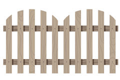 Wooden seamless fence rounded shape isolated Royalty Free Stock Images
