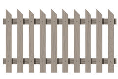 Wooden seamless fence triangular shape isolated Royalty Free Stock Photography