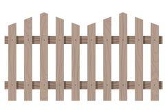 Wooden seamless fence triangular shape isolated Royalty Free Stock Image