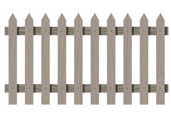 Wooden seamless fence triangular shape isolated Stock Photography