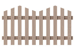 Wooden seamless fence triangular shape isolated Stock Image