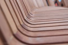Wooden seat Stock Images