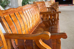 Wooden seat Royalty Free Stock Photos