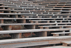 Wooden seats Royalty Free Stock Photo