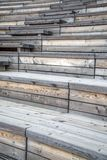 Wooden seats Royalty Free Stock Image