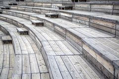 Wooden seats Royalty Free Stock Photography
