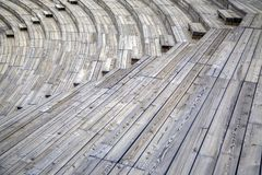 Wooden seats Stock Photo