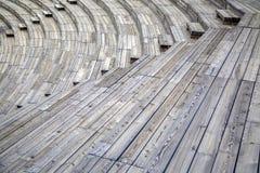 Wooden seats Stock Photo