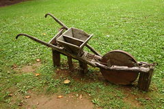 A wooden seeder from the past Stock Images