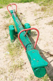 Wooden seesaw Royalty Free Stock Image