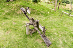 Wooden Seesaw playground Royalty Free Stock Images
