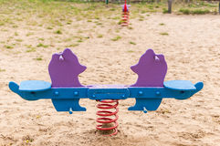 Wooden seesaw Royalty Free Stock Photography