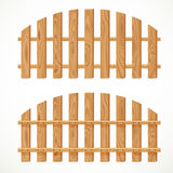 Wooden semicircular fence Royalty Free Stock Image