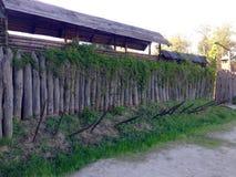 Wooden settlement ukrainian cossacks Stock Photo