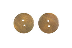 Wooden sewing button Royalty Free Stock Photography