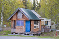 Wooden shack Stock Photography