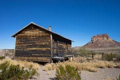 Wooden shack in big bend texas stock images