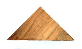 Wooden in shape triangle Royalty Free Stock Photos