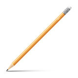 Wooden sharp pencil isolated on white background.  Stock Photography