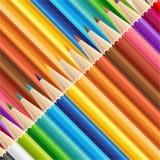 Wooden sharp pencils set background. Stock Images
