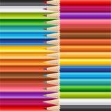 Wooden sharp pencils set background. Royalty Free Stock Photos
