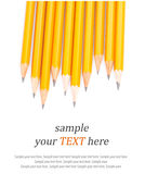 Wooden sharp pencils & text Stock Photo