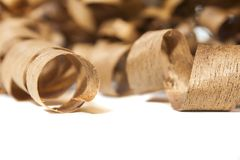 Wooden shaving Stock Image